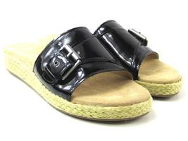 Aerosoles Glorify Women's Black Espadrille Platform Sandal Buckle Size 9 M - $32.66