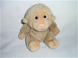 "VTG RUSS BERRIE BABY CHEE CHEE Monkey plush Chimp Light Beige 6.5-7""H - $14.84"