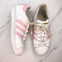 Adidas Originals Superstar Women's 6.5 Sneakers White Light Pink Leather... - $29.01