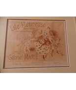 original Jules Cheret Music Cover Lithograph Lile Meuresue, Framed, Matt... - $285.00