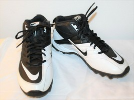 Nike Mens Speed Shark 2011 Football Cleats Black White Lace Up 442252-01... - $29.69