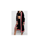 Boohoo Maxi Sport Tipping Oversized Cardigan Black Size S/M NWT - $39.59