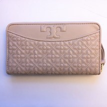 TORY BURCH Bryant Zip Continental Wallet ~ Light Oak Quilted Leather New/NWT - $149.95
