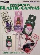 Door Signs in Plastic Canvas, Pattern Booklet LA 366 Halloween Christmas... - $2.95