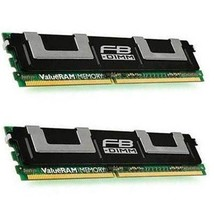 KINGSTON KVR667D2D4F5K2/8G 8gb kit (4gb x 2) match pair pc2-5300 667mhz cl5 ecc  - $58.15