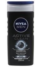 Nivea Men Active Clean Shower Gel, Body Wash 250 ml - $14.84