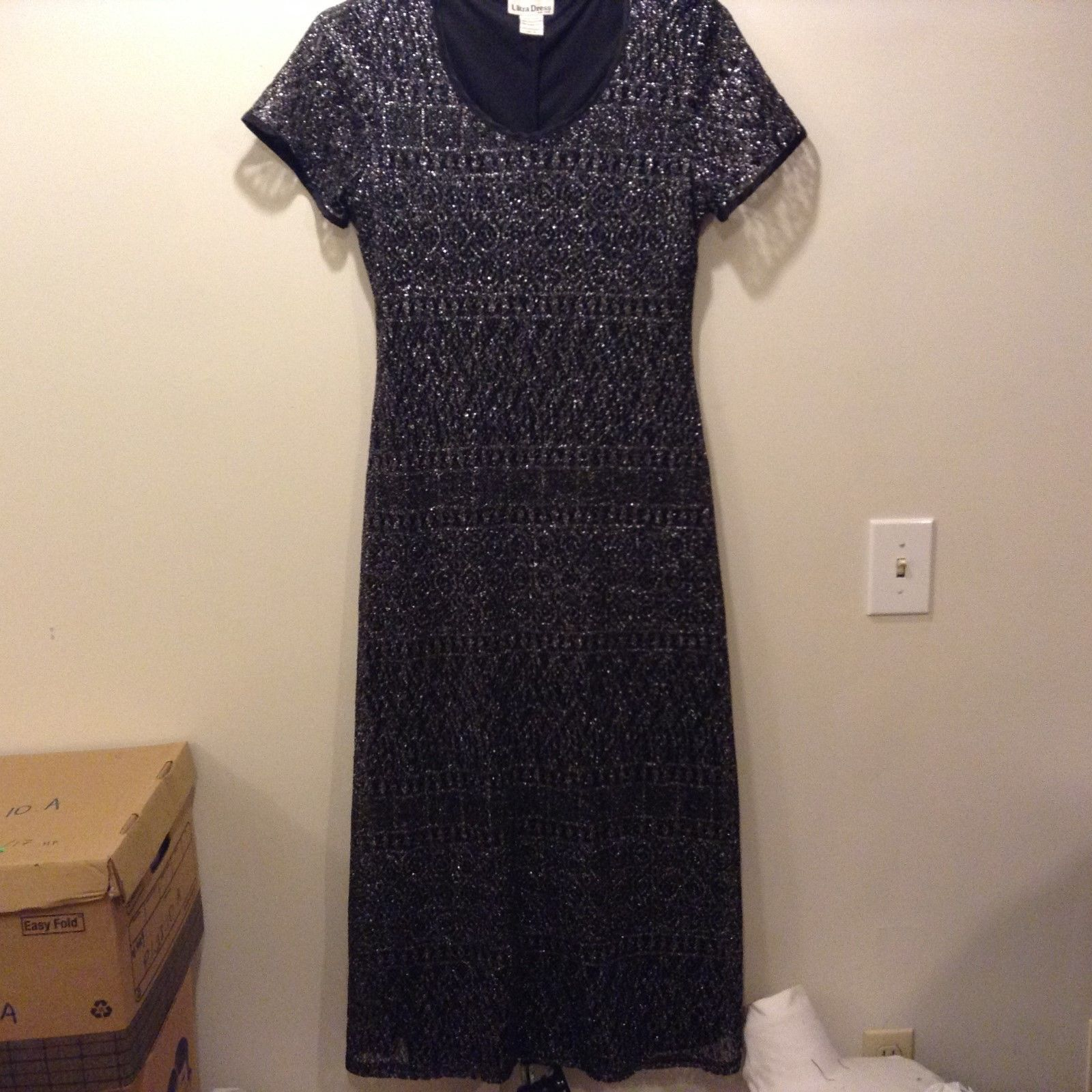 Ultra Dress New York Occasional Long Black Dress Sz 14