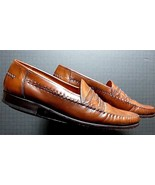 Men's Brass Boot Spain Hand Sewn Brown Leather Loafer Sz. 13 MINTY! - $53.96
