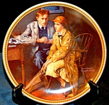 """1983 """"Confiding in the Den"""" by Norman Rockwell with Box ( Knowles ) AA20-CP2198"""