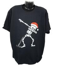 Skeleton Dab Dance W/ Santa Hat - Black Hockey Xl Shirt Youth Kids Xlarge Used - $9.50
