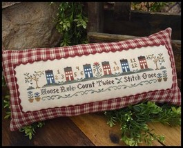House Rules cross stitch chart LIttle House Needleworks  - $7.65