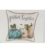 "Thanksgiving Fall Blue Pumpkin Gourds Pillow COVER Home Decor 17x17"" - $18.99"