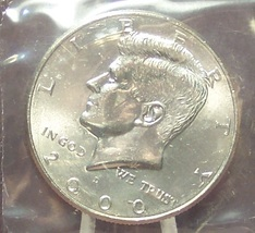 2000-D Kennedy Half Dollar BU In the Cello #0740 - $5.79