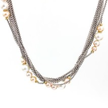 DAVID YURMAN Multi-Strand Pearl Necklace in Sterling Silver and 18k Gold - $985.05