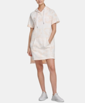 DKNY Tie-Dye Front Logo  Oversized Pullover Women Dress Champagne medium - $39.99