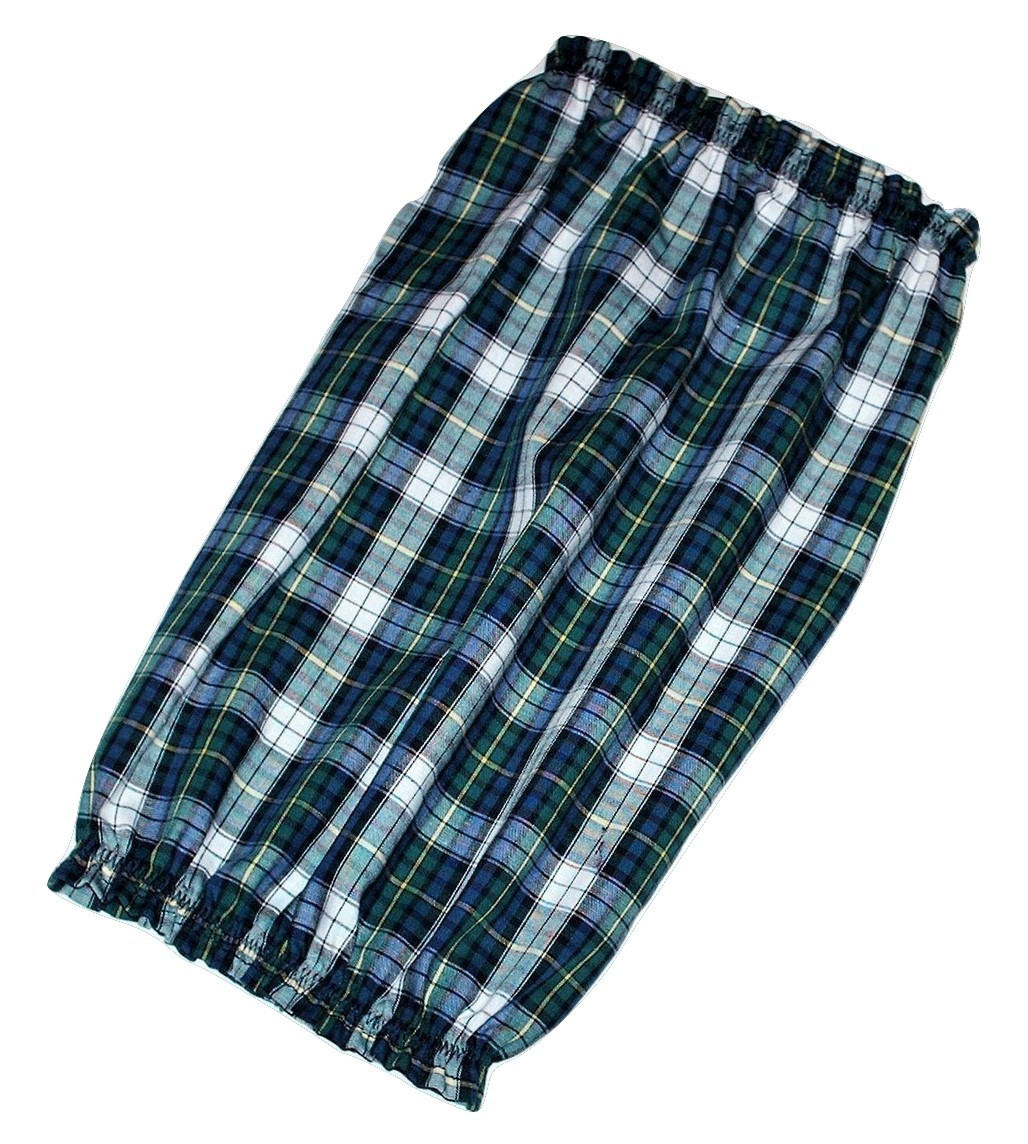 Dog Snood Blue Green Black Plaid Lightweight Cotton by Howlin Hounds Puppy REG