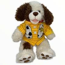 "Build a Bear Woody Sheriff Shirt on Brown/White Puppy Dog Plush 17"" - $19.20"