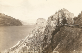 RPPC Postcard Inspiration Point View Columbia River Highway Oregon Cross... - $5.94