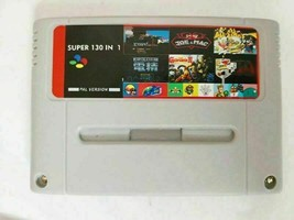 130 in 1 Video Games - SNES Cart - for Super Nintendo - Gray / Red Shell - PAL - $34.05