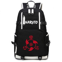 Naruto Theme Fighting Anime Series Backpack Schoolbag Daypack Red Sharingan - $36.99