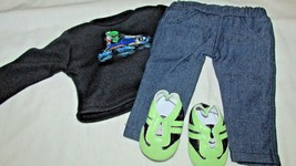 """18"""" doll clothes hand made outfit shoes Yoshi Mario Kart green sneakers  - $12.86"""