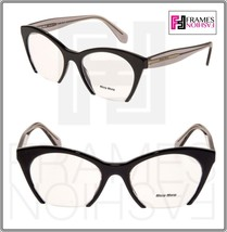 MIU MIU RASOIR MU03QV Eyeglasses Optical Frame Black Grey Translucent 51... - $197.01