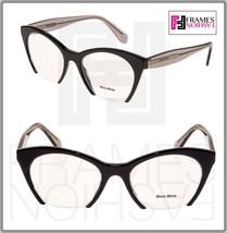 MIU MIU RASOIR MU03QV Eyeglasses Optical Frame Black Grey Translucent 51... - $197.01