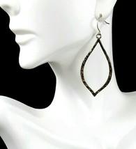 Premier Designs Gold Essence Teardrop Drop Dangle Pierced Hammered Earri... - $11.29