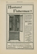 1900 Sportsmen Cabinet Ad West End Furniture Williamsport PA Hunting Fis... - $15.00