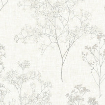 Queen Anne's Lace Wallpaper Grey, Beige Norwall Wallcovering FH37509 - $40.99