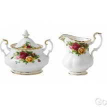 Royal Albert Old Country Roses Covered Sugar and Creamer New with tags - $162.36