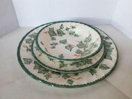 Barratts England Country Vine Fine Tableware Trio Dinner Plate Salad Pla... - $24.74