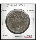 """1980, Isle of Man Commemorative Crown: """"Bicentenary of the Derby"""" Coin - $3.61"""