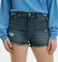NWT $70 Levi's Jeans 501 High-Waisted Denim Short in Silverlake Blue 25 - $26.73
