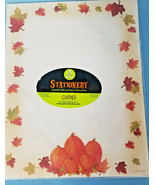 Stationery Paper Print Invitations/Notice/Letter Pumpkin Autumn Design 2... - $13.99