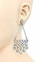 "3.25"" Long, Aurora Borealis Rhinestones Casual Chic Party Chandelier Earrings  - $12.83"