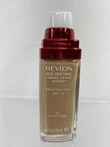 REVLON #50 Honey Beige Age Defying Firming Plus Lifting Foundation 1oz - $9.49