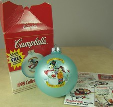 Campbells Soup Christmas Holiday Ornament Collector's Edition 1998 Glass - $10.74