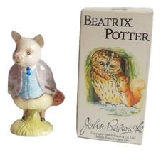 Vintage Beatrix Potter Pigling Bland Figurine John Beswick Wild Animal Pig - $34.95