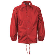 Renegade Men's Lightweight Water Resistant Button Up Windbreaker Coach Jacket image 8