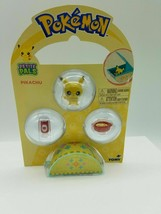 new Pokemon Petite Pals Pikachu Mini Figure 3-Pack Small Pocket Play Sets  - $13.72