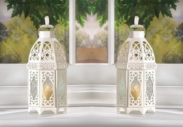 "White  Candle Lantern 12"" Tall (Set of Eight) Wedding Party Supplies 13364 - $106.25"