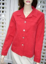 COLDWATER CREEK Moroccan Red Patchwork Stretch Jacket S - $19.50