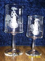 "Avon Glassware, Mrs. Albee ""Etched"" RARE Set of 12, Exteme Vintage - $188.05"