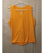 Womens Champion Authentic Large Sleeveless Orange Tank Top - $17.75