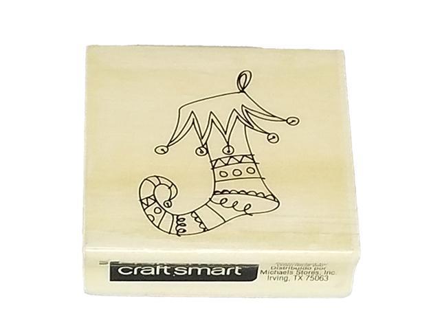Craftsmart Christmas Stocking Rubber Stamp