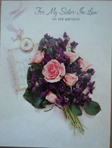 Vintage Hallmark For My Sister In Law Birthday Card Used 1970s - $2.99