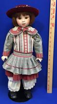 "Franklin Mint Doll 19"" Megan Coca Cola Girl Porcelain 1995 - $18.80"