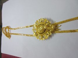 Indian Bollywood Gold Plated Wedding Ethnic Knot Style Fashion Jewelry Necklace image 5