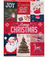 Vinyl Static Window Clings Christmas Joy Santa Claus Tree - $8.42